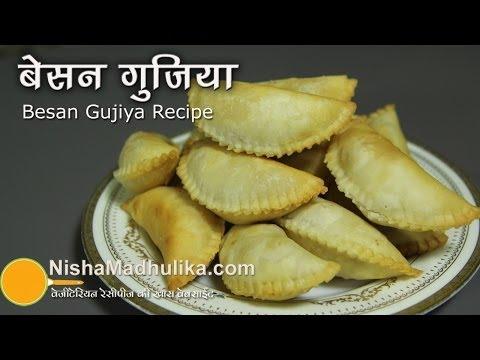 Besan Ki Gujiya Recipes - Besan Gujia