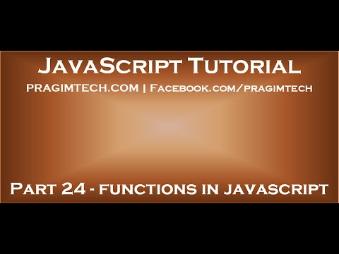 Functions in JavaScript