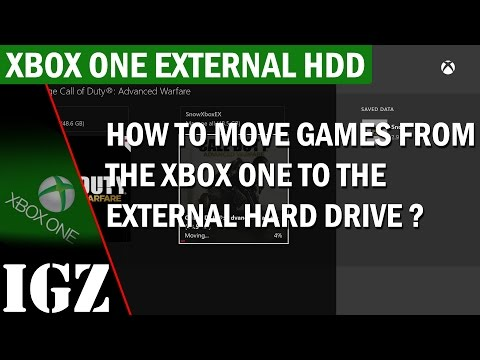 How to move games from the Xbox One to the External Hard Drive (Lift and Shift)
