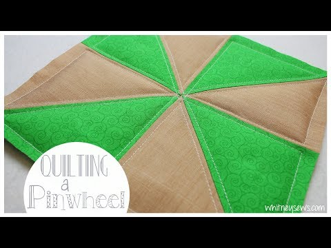 Quilting a Pinwheel How to - Quilting Quicky | Whitney Sews