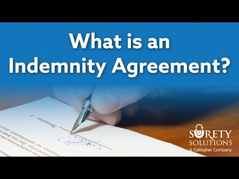What is an Indemnity Agreement?
