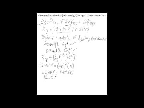 Calculate solubility using Ksp