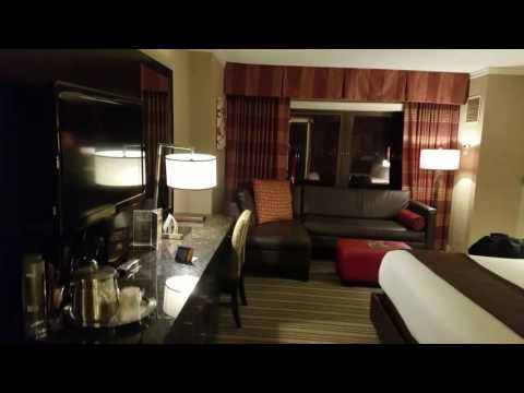 Golden Nugget Casino and Hotel in Atlantic City.  King size room.