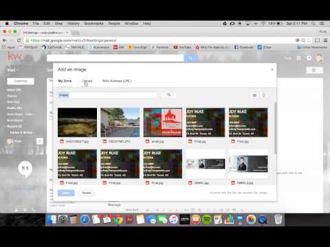 How to setup clickable email signature image on gmail