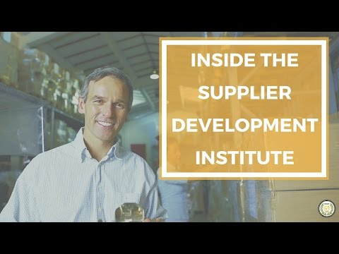 Inside the Supplier Development Institute