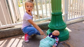 FOUND LOST BABY IN DISNEYLAND! 🍼 Do we keep him?