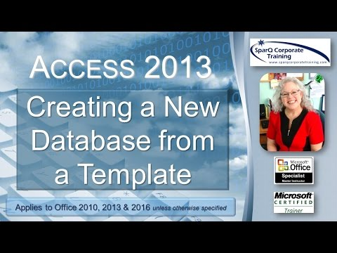 Access 2013 -  Creating a New Database from a Template