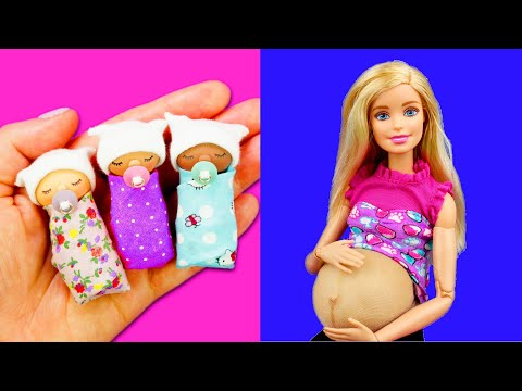 DIY miniature Baby | DIY Miniature doll baby pacifier | DIY Miniature doll baby Crib 미니어쳐 아기