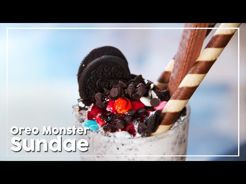 Oreo Monster Sundae - Sweet and Crunchy Dessert Recipe - Today's Special With Shantanu
