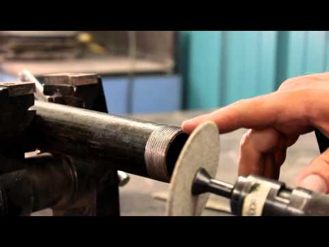 Deburring New Pipe Thread & Cleaning Used