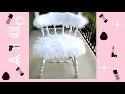 Strange D I Y Home Decor Faux Fur Bench Alexandra Beuter Lamtechconsult Wood Chair Design Ideas Lamtechconsultcom