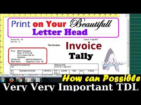 Print GST Invoice on your beautiful letter head | टेली से बिल को सीधे लैटर हैड पर प्रिन्ट करें