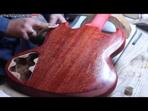 Crimson Guitars stunning stains & Guitar Oil demo - part 2