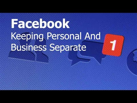facebook business and personal page separate