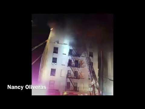 Flames of 4 Alarm Fire, Mott Haven, Bronx