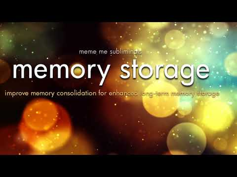 MEMORY STORAGE: Improve Memory Consolidation & Long-Term Memory- Subliminal Affirmations
