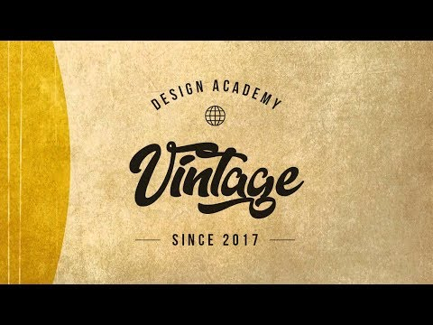 How To Design A Vintage Logo In Photoshop - Urdu/Hindi Tutorial