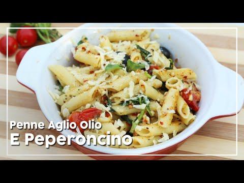 Pasta Recipe   Penne Aglio Olio E Peperoncino   Easy To Make Italian Pasta