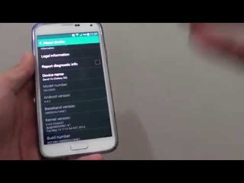Samsung Galaxy S5: How to Find Baseband Version