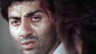 Sunny Deol, Dimple Kapadia, Prem Chopra, Aag Ka Gola - Scene 9/11