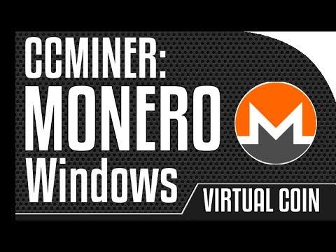 Monero - Ccminer GPU miner on Windows ( GeForce GTX )