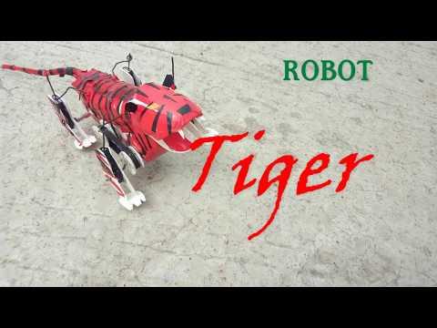 how to make a robot  llwalking robot tigerll