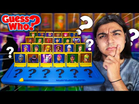 FORTNITE GUESS WHO CHALLENGE! | *HOW TO MAKE FORTNITE GUESS WHO* | GUESS THAT FORTNITE SKIN GAME