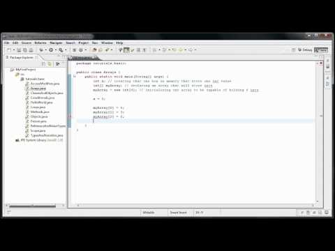 Java Programming: 13 - Data Structures intro, Arrays