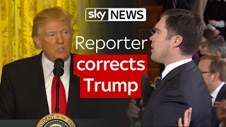 Reporter corrects President Donald Trump over vote count claim