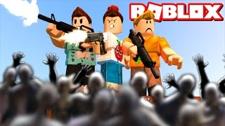 CAN YOU SURVIVE 100,000 ZOMBIES IN ROBLOX!