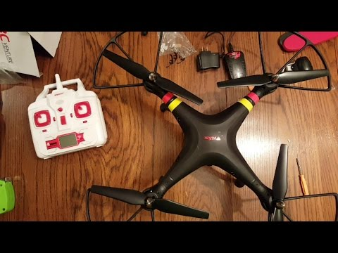 SYMA X8C Venture Quadcopter Drone Unboxing and Assembly