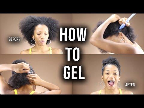 HOW TO GEL YOUR THICK NATURAL HAIR FLAT + SLEEK | Annesha Adams