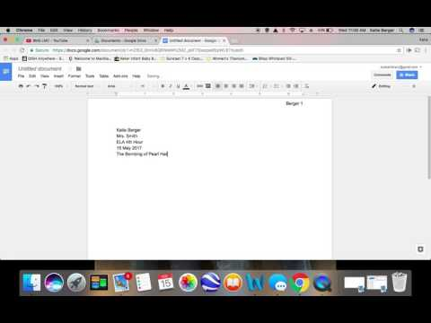 Formatting Your Research Paper in Google Drive