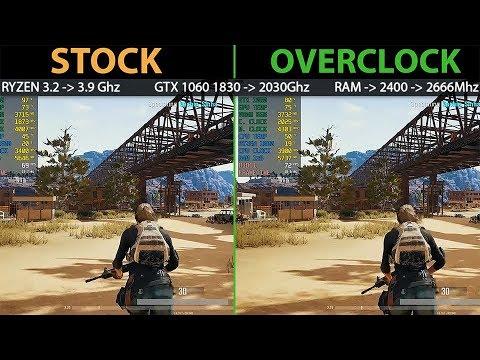 AMD Ryzen PC Stock vs Overclock Gaming Performance | Processor 3.2 TO 3.9Ghz GPU RAM OVERCLOCK