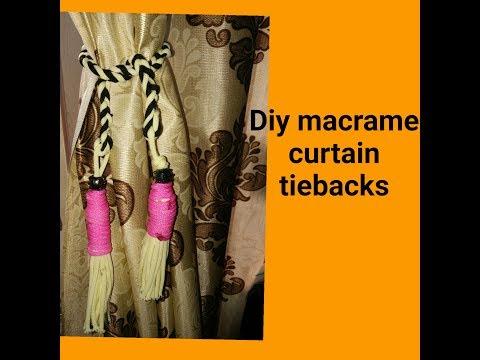 How to make macrame curtain tieback #design2