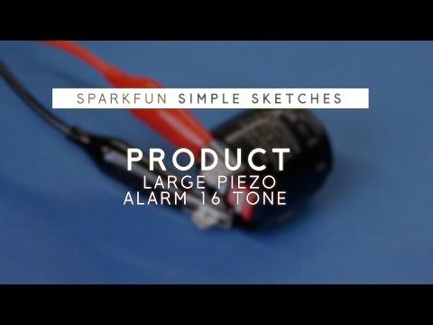 Simple Sketches: Large Piezo Alarm - 16 Tone
