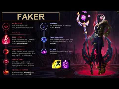 SKT Faker Build LeBlanc - New Runes Season 8 solo vs Taliyah (League of Legends Guide)