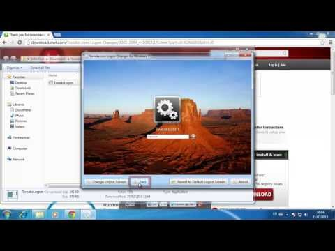 How to Change Welcome Screen in Windows 7