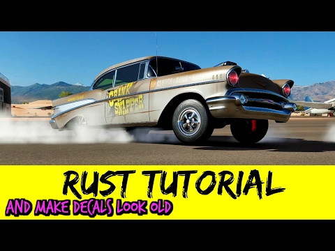 How to Paint Rust & Make Stickers Look Old Tutorial