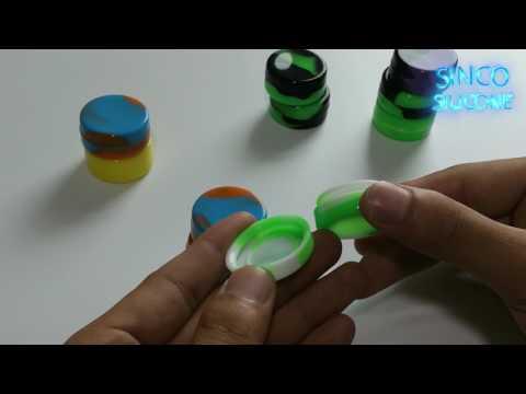 concentrate containers non stick / silicone storage jar / silicone rubber jar