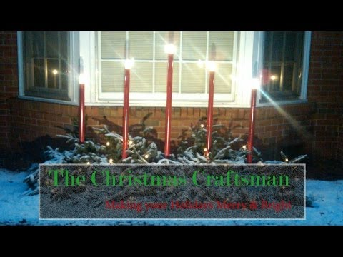 Outdoor Christmas Candles