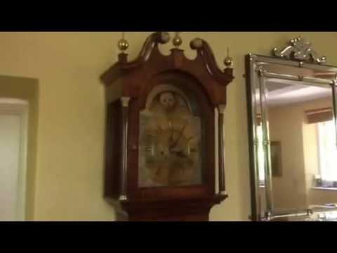 Georgian long case grandfather clock