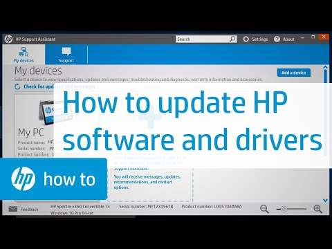 Automatically Updating HP Software and Drivers