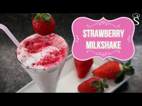 Valentine Special Strawberry Milkshake Recipe | How to Make Strawberry Milkshake by Shree's Recipes