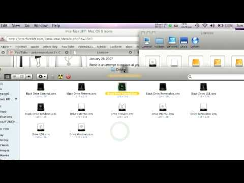 How To Change Some Icons Like Finder, Hardrives, Folders ETC.. ((MAC))