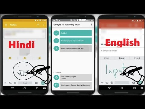 Know Type in Hindi on Mobile Google Handwriting Input for Android 2018
