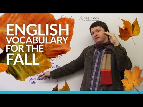 English Vocabulary: Talking about AUTUMN