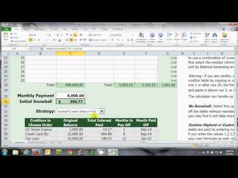 Pay Off Debt Fast: Debt Reduction Training - Free Snowball Reduction Calculator