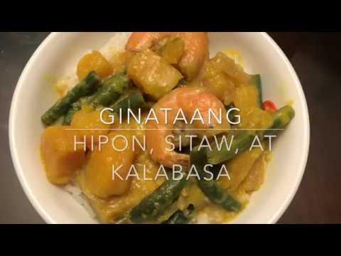 Ginataang Hipon, Sitaw, at Kalabasa