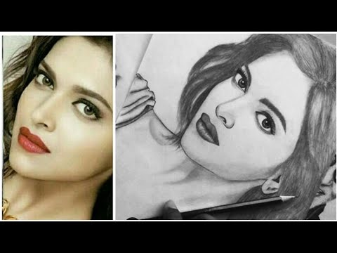 How To Draw Realistic sketch of deepika padukone BY Pencil